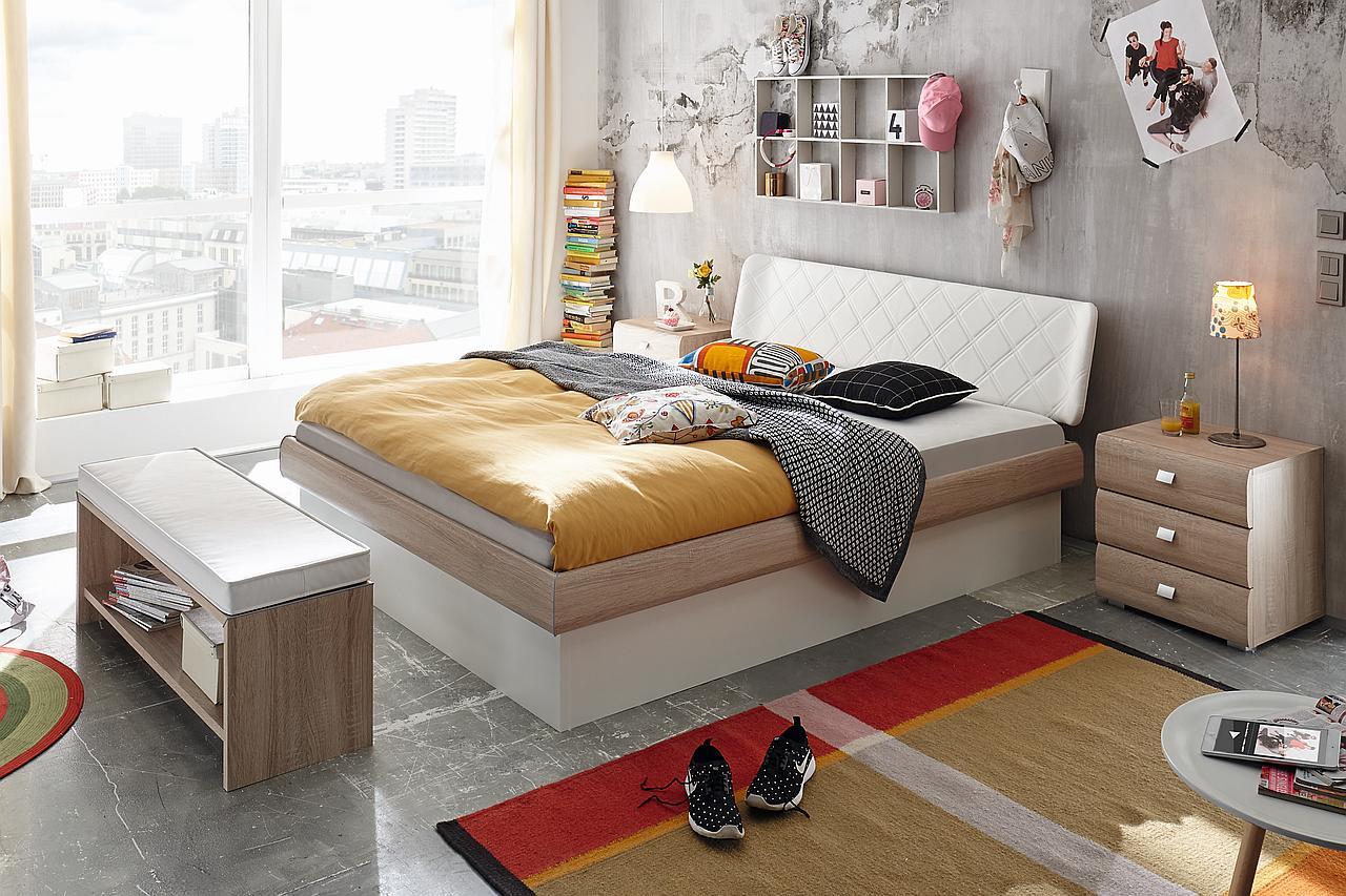 lag wien holzbett hasena serie soft line mit f en practico und kopfteil gabo. Black Bedroom Furniture Sets. Home Design Ideas